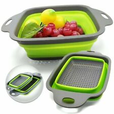 Folding Kitchen Colander Collapsible Silicon Food Strainer Draining Vegetable