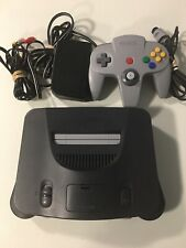 Nintendo 64 N64 Console Gray W/ Cords + Controller Bundle Tested Working