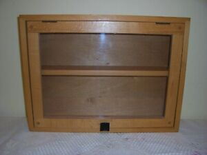 Vintage Glass Fronted Display Cabinet 99p no reserve