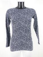WOLFORD Damen Shirt Oberteil Gr S DE / Schwarz Grau Muster Neuwertig ( R 1701 )