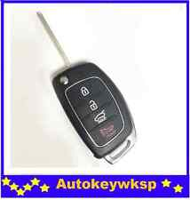Flip Remote Key Shell Case replacement Hyundai 4 buttons SANTA FE ix35 i30