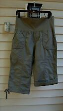 Calvin Klein Performace Cropped Roll Tab Cargo Army Green Pants Size M