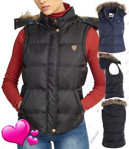 Size 6 8 10 12 14 Womens GILET BODYWARMER Ladies JACKET PADDED Hood Waistcoat