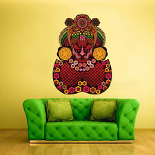 Color Wall Decals Sticker Mask Face Ethnic Religion Indian Antique (Col20)