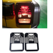 2*Rear Tail Light Guards Lamp Trim Protector Cover For Jeep Wrangler JK 2007-16