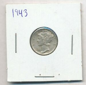 1943 Mercury Silver Dime Exact Coin Shown