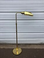Vintage Mid-Century Brass Pharmacy Adjustable Floor Lamp Koch And Lowy Style