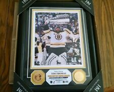 HIGHLAND MINT BOSTON BRUINS TIM THOMAS CONN SMYTHE 2011 STANLEY CUP FRAMED PHOTO