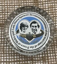 Charles & Diana Wedding Glass Paperweight 1981