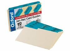 Oxford Laminated Tab Index Card Guides 12 X Dividers Printed January To