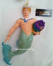 RARE December Diamonds SAMMY the SAILOR Merman Ornament 2004, Original Box & Tag