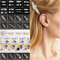 Fashion Women Pearl Hair Clip Hairband Comb Hair Pin Barrette Hairpin Headdress