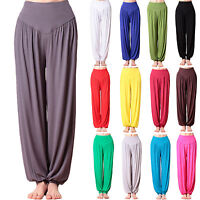 Womens Harem Trousers Baggy Wide Leg Yoga Aladin Long Pants Leggings Plus Size