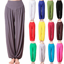 WOMENS HAREM TROUSERS ALI BABA LONG PANTS BAGGY HAREEM LEGGINGS CASUAL PLUS SIZE