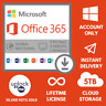 Microsoft Office 365 2019 Pro Plus Lifetime Account For 5 Pcs Mac Win 5 TB Cloud