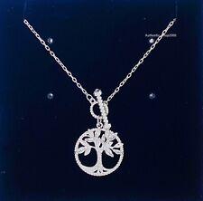 SWAROVSKI Rhodium Sparkle Symbolic Family Tree of Life Pendant Necklace 5521463