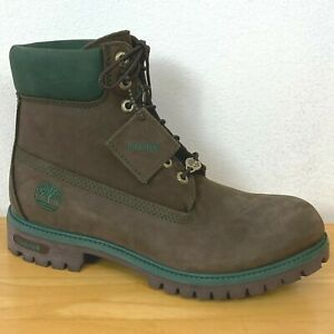 Timberland Hiking Boots Mens size 8.5M Brown Nubuck & Green 46066 BARELY USED E1