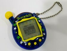 Tamagotchi Connection Version 4  V4 Clear Blue Stars 2004 fully working- Bandai