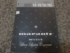 New listing Marantz Ta-70 Ta-70L Stereo Componant Original Service Repair Manual