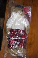 Fergus Teddy Bear wearing Sweater and plaid Pants