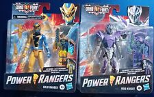 NEW 2021 Power Rangers Dino Fury Gold Ranger and Void Knight Figures!  New