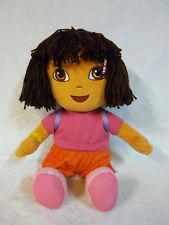 "Ty Beanie Buddies Dora the Explorer Doll 17"" 2009 Plush Soft Toy Stuffed Animal"