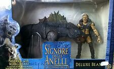 TOY BIZ LORD OF THE RINGS SIGNORE DEGLI ANELLI SHARKU WITH WARG BEAST 81338