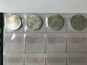 100 Schilling Silbermünzen Set  Österreich Olymp. Winterspiele Innsbruck 1976