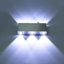 Luces LED De Pared Moderno Aluminio 6 Apliques Salón Salón Dormitorio blanco frío Reino Unido