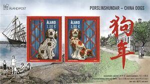 Aland China Dogs Chinese Lunar Year 2018 Aland Finland Mint MNH Sheet 2017
