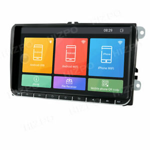 """9"""" Android 8.1 Car Stereos 2 DIN MP5 Player FM Bluetooth GPS Navigation For VW"""