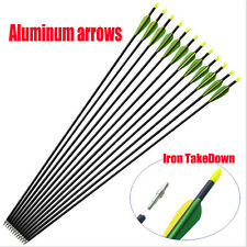 """10x 32"""" EXTRA HEAVY DUTY ALUMINIUM ARROWS FOR COMPOUND AND RECURVE BOW ARCHER GN"""