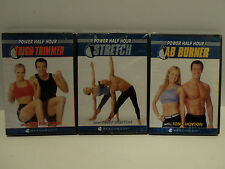 Beach Body Tony Horton Power Half Hour 3 Fitness DVD Stretch Ab Burner Thigh NEW