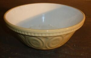 Lovely Vintage Cream & Beige 26cm Kitchen Mixing Bowl No. 21A Made in England