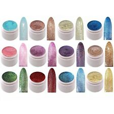 12 x 5ml UV Farbgel Glitter Effekt Gel Made in Germany GGF-Set