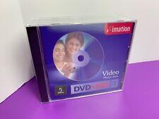 imation 5 discs DVD+RW Blank Media NEW 60-240 minutes per disc Video Photos