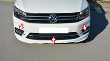 VW CADDY 2015 ONWARDS chrome front bumper streamer 3pcs S.STEEL