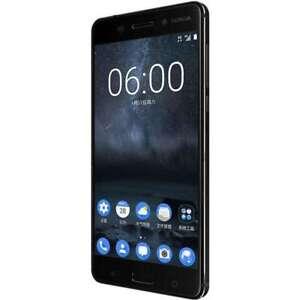 "Android Nokia 6 Dual SIM 64GB ROMC Black 5.5"" 4GB RAM 16MP Original Cellphone"