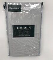NWT Ralph Lauren Grey Dunham Sateen Standard Pillowcase Set Cotton Pair Gray