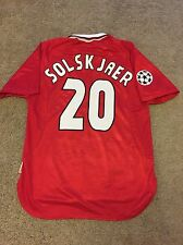 MANCHESTER UNITED HOME SHIRT 1998/99 ADULTS LARGE (L) SOLSKJAER VINTAGE JERSEY