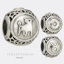 Authentic Pandora Sterling Silver Zodiac Taurus Star Sign Charm Bead 791937