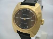 NOS NEW VINTAGE SWISS 17 JEWELS GOLD PLATED ANTI MAGNETIC ATLANTIC WATCH 1960'S