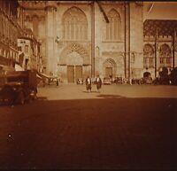 Francia Cattedrale Foto Stereo PL32P1n Placca Da Lente Vintage c1930