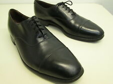 Vtg EUC LLoyd & Haig Custom Built Black Oxford Cap Toe dress shoe 11 EEE UK made