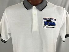 Rochester Corvette Club 2008 Car Show White Polo Shirt 100% Cotton XL X-Large