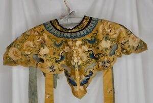 Antique Chinese Silk Embroidered Collar -   84515