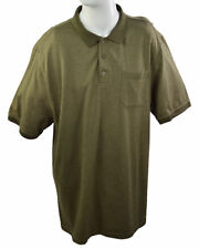 DENVER HAYES Classic Fit Men's Polo Shirt 2XL Green Collared Short Sleeves