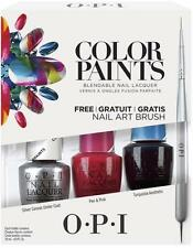 OPI COLOR PAINTS BLENDABLE NAIL POLISH 15ml SET ART BRUSH SILVER PINK TURQUOISE