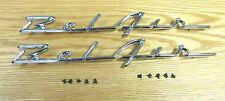 1955 1956 CHEVY CHROME BELAIR SCRIPTS , NEW   pair ** Made in USA **