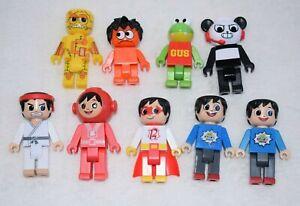 9x Ryan's World Figures Red Titan Gus Combo Panda Moe RTR-PW Toys Bundle A88